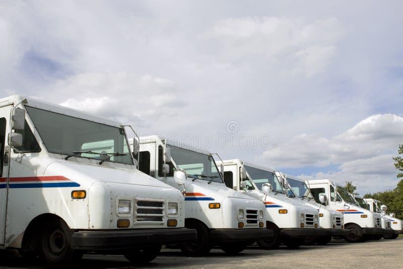 Camions de courrier photos stock