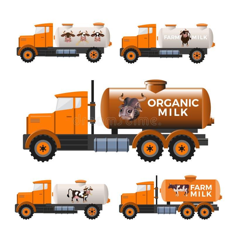 Camions de réservoir à lait illustration libre de droits