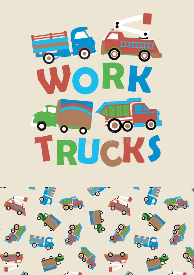 Camions de travail illustration libre de droits
