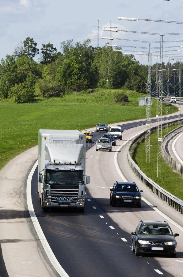 Camions et circulation photo libre de droits