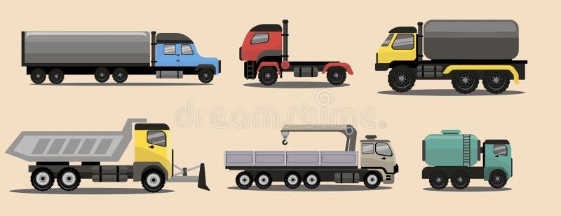 Camions industriels de fret de transport images libres de droits