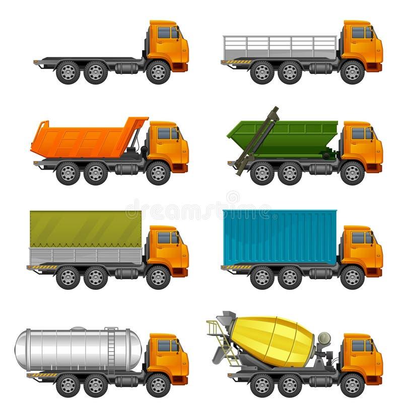 Camions réglés illustration stock
