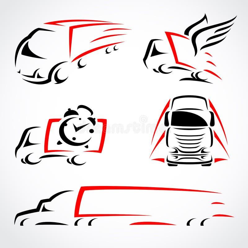 Camions réglés. Vecteur illustration libre de droits