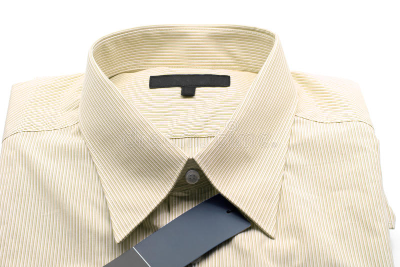 Camisa amarela do negócio imagens de stock royalty free