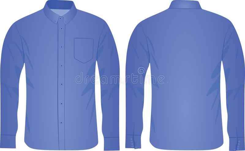 Camisa azul do homem ilustração do vetor