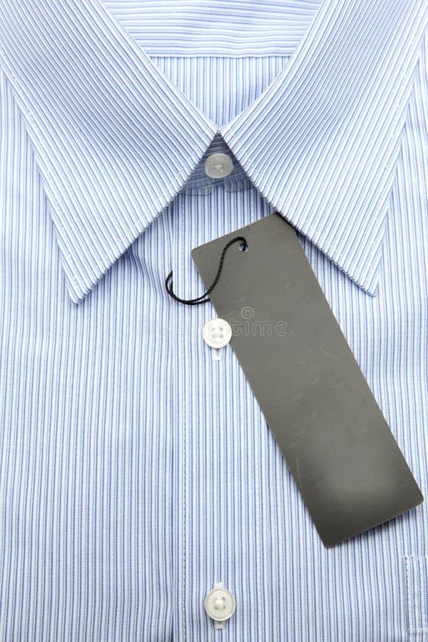 Camisa azul do negócio foto de stock