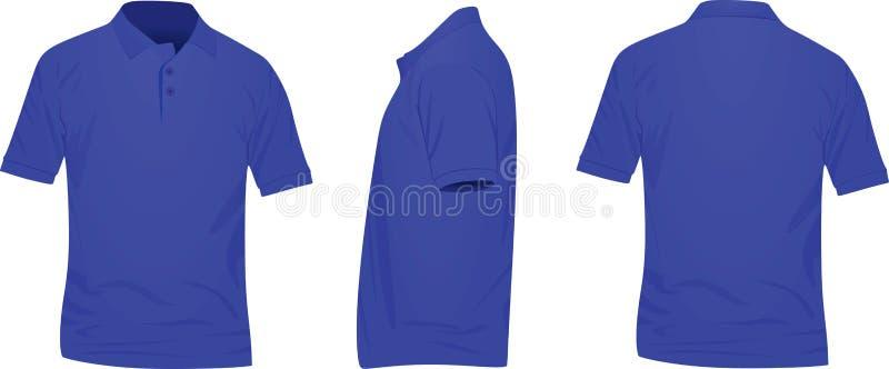 Camisa azul do polo t ilustração do vetor
