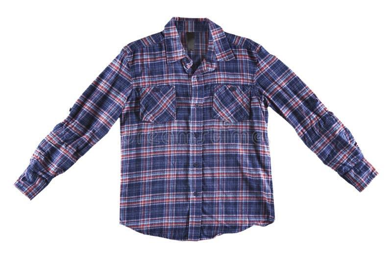 Camisa azul y roja aislada imagen de archivo libre de regalías