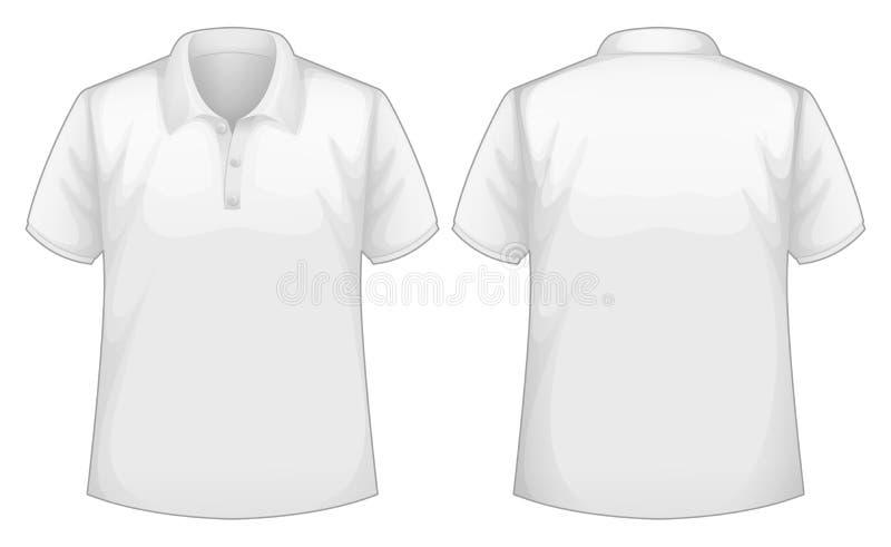Camisa branca ilustração do vetor