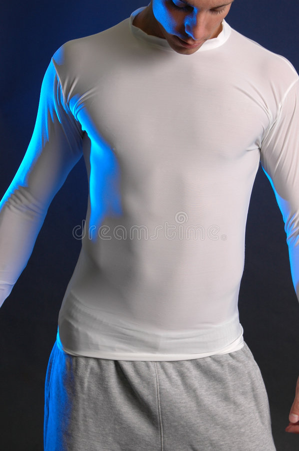 Camisa branca apertada fotos de stock royalty free