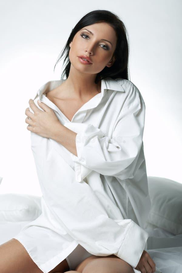 Camisa branca de XXL imagem de stock