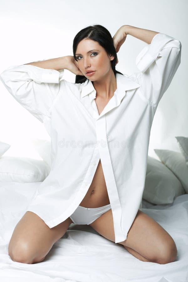 Camisa branca de XXL fotos de stock royalty free