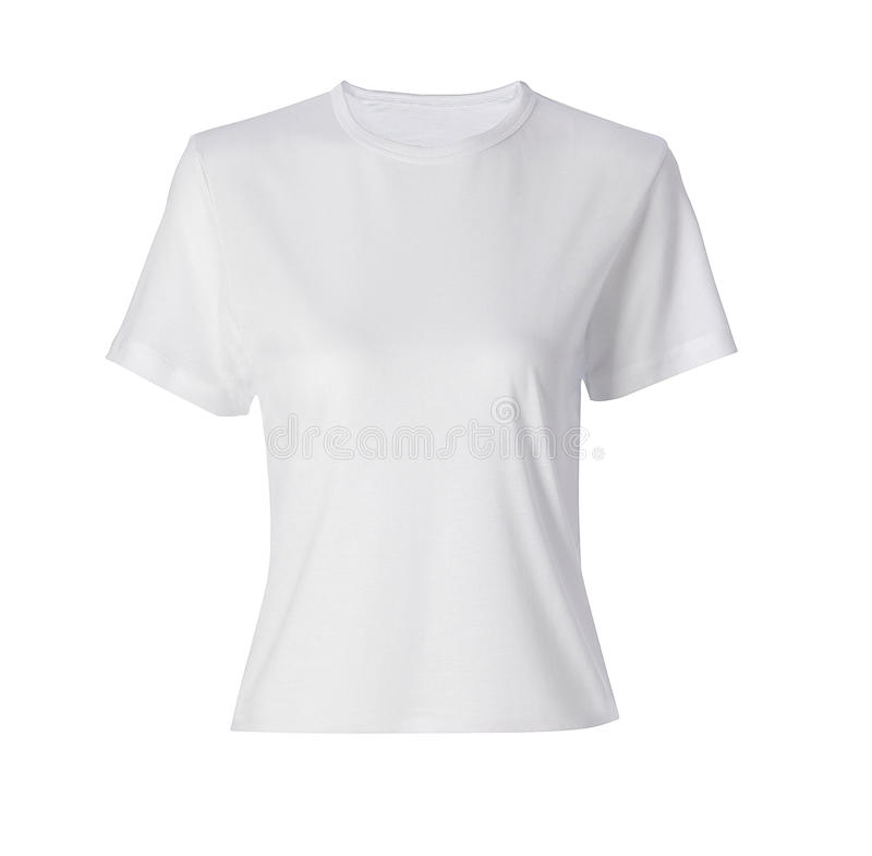Camisa branca isolada imagem de stock royalty free