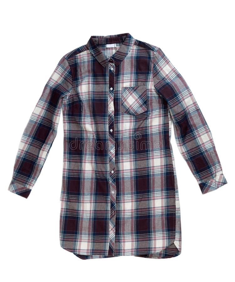 Camisa Checkered imagens de stock royalty free