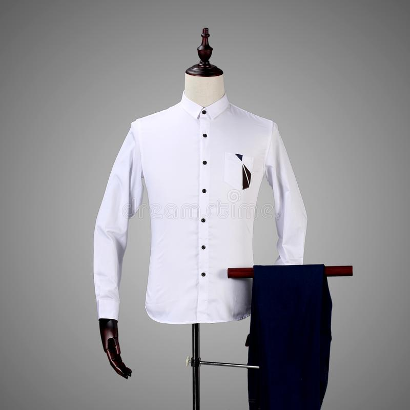 Camisa Checkered para homens fotografia de stock
