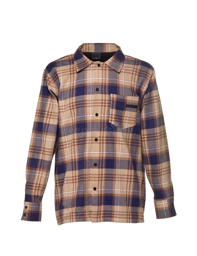 Camisa Checkered para los hombres fotografía de archivo