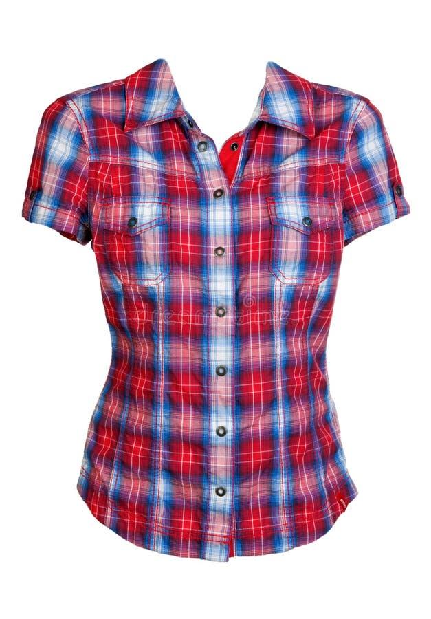 Camisa checkered vermelha fotografia de stock royalty free