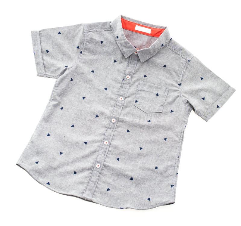 Camisa cinzenta fotografia de stock