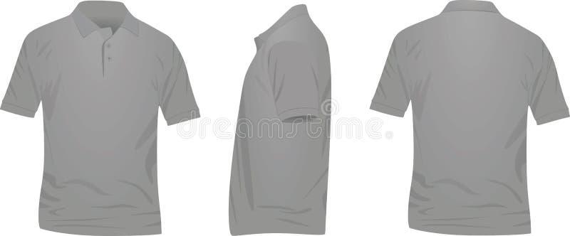 Camisa cinzenta do polo t ilustração royalty free