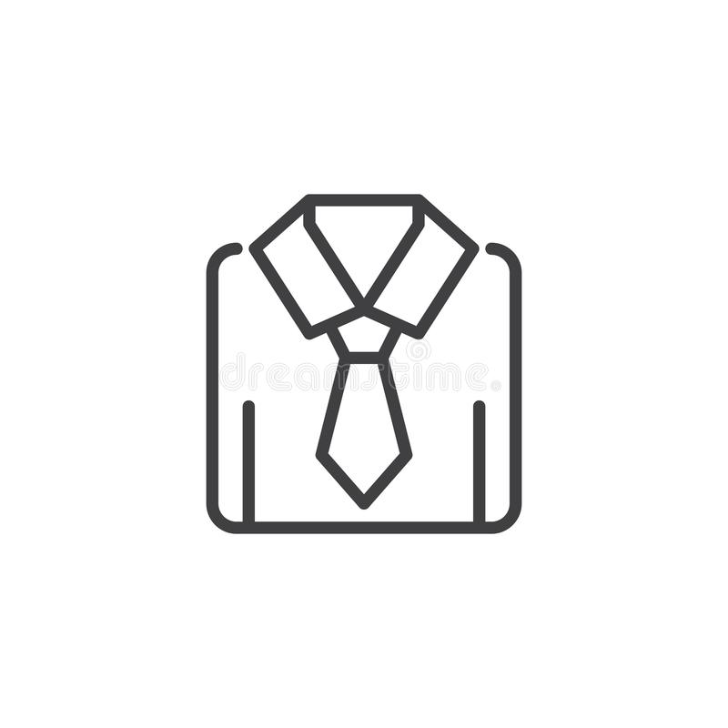 Camisa com ícone do esboço do laço ilustração stock