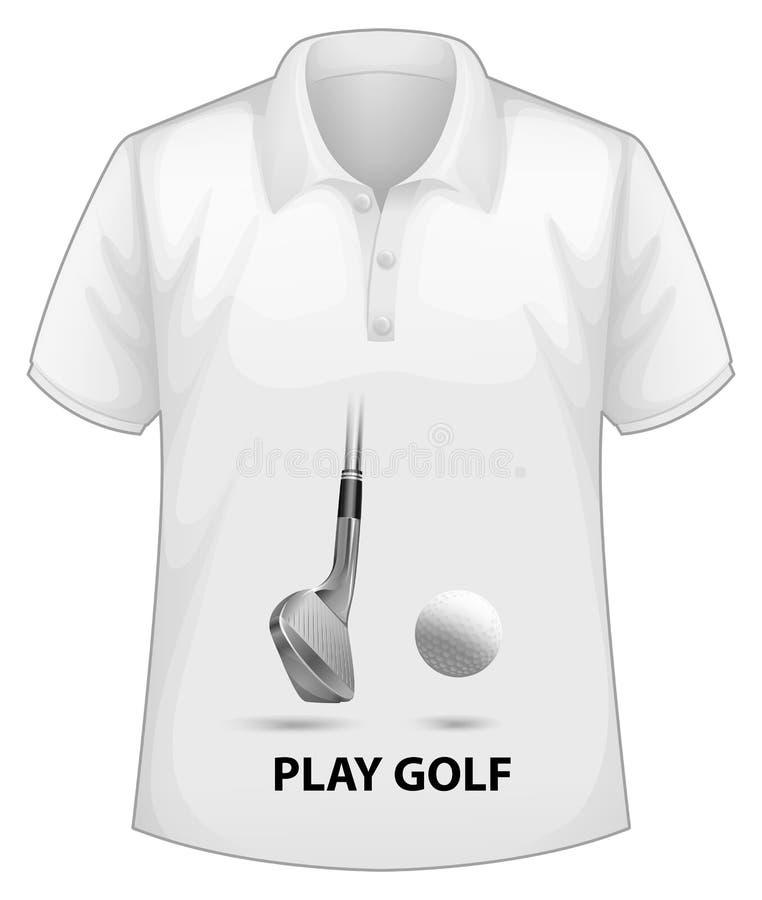 Camisa com tela ilustração do vetor