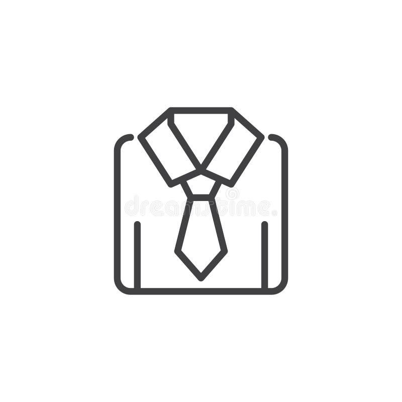 Camisa con el icono del esquema del lazo stock de ilustración