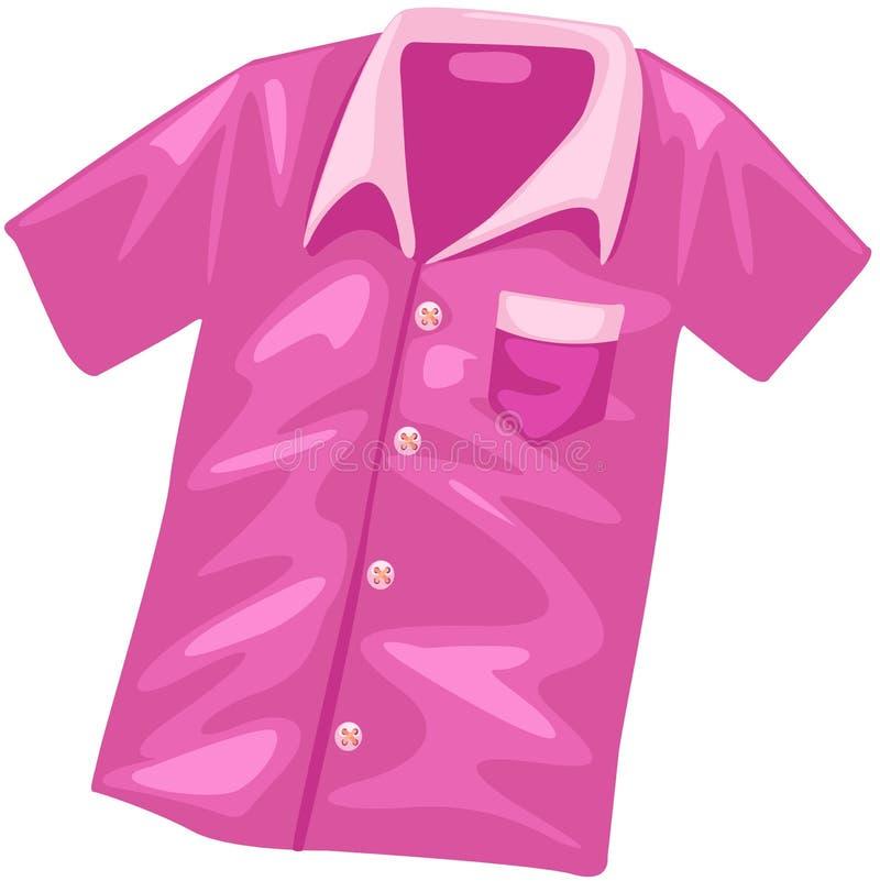 Camisa cor-de-rosa ilustração stock