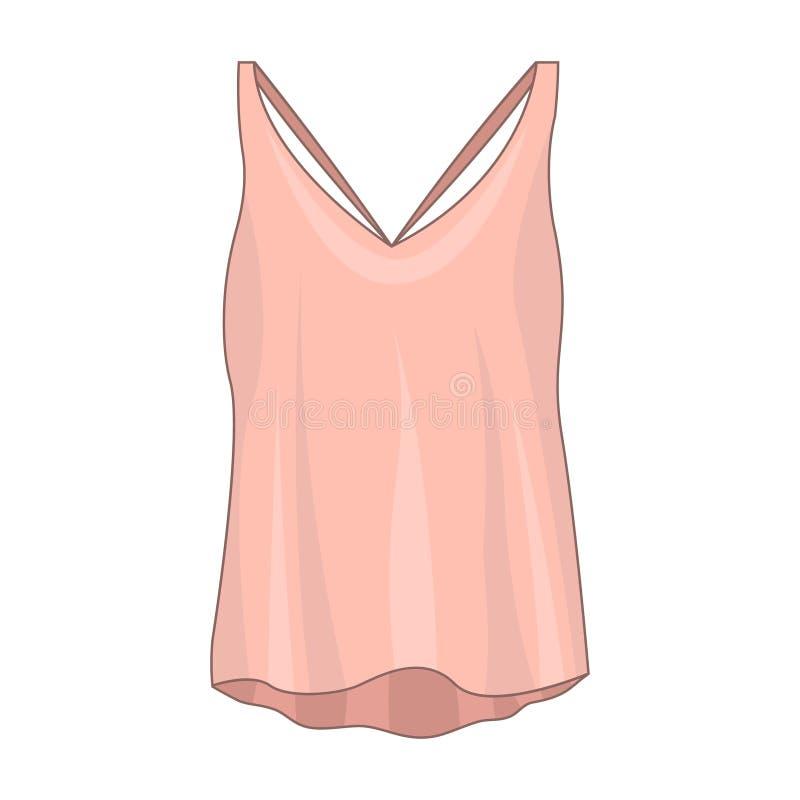 Camisa cor-de-rosa sem mangas ilustração royalty free