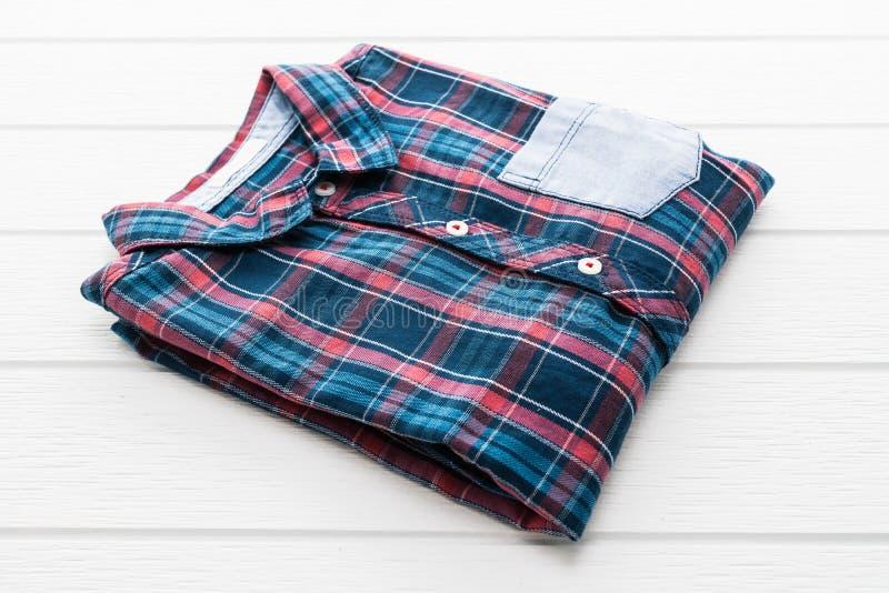 Camisa da tartã ou de manta foto de stock