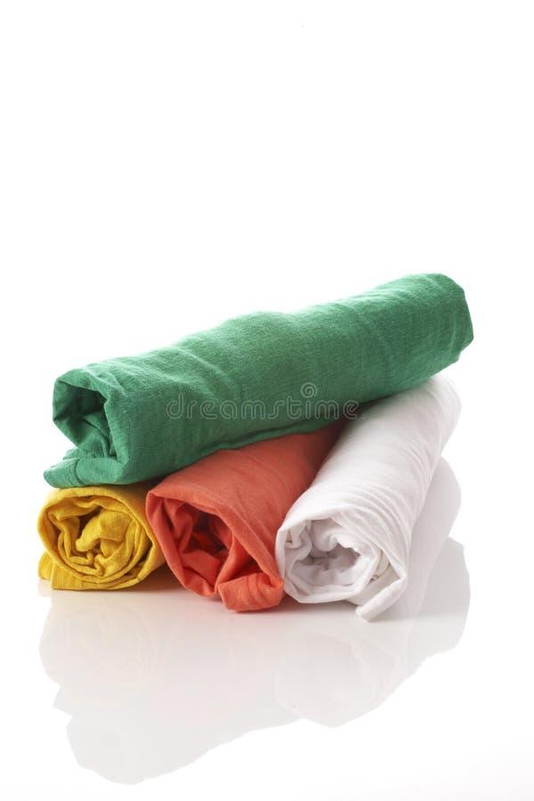 Camisa de algodón cuatro imagenes de archivo