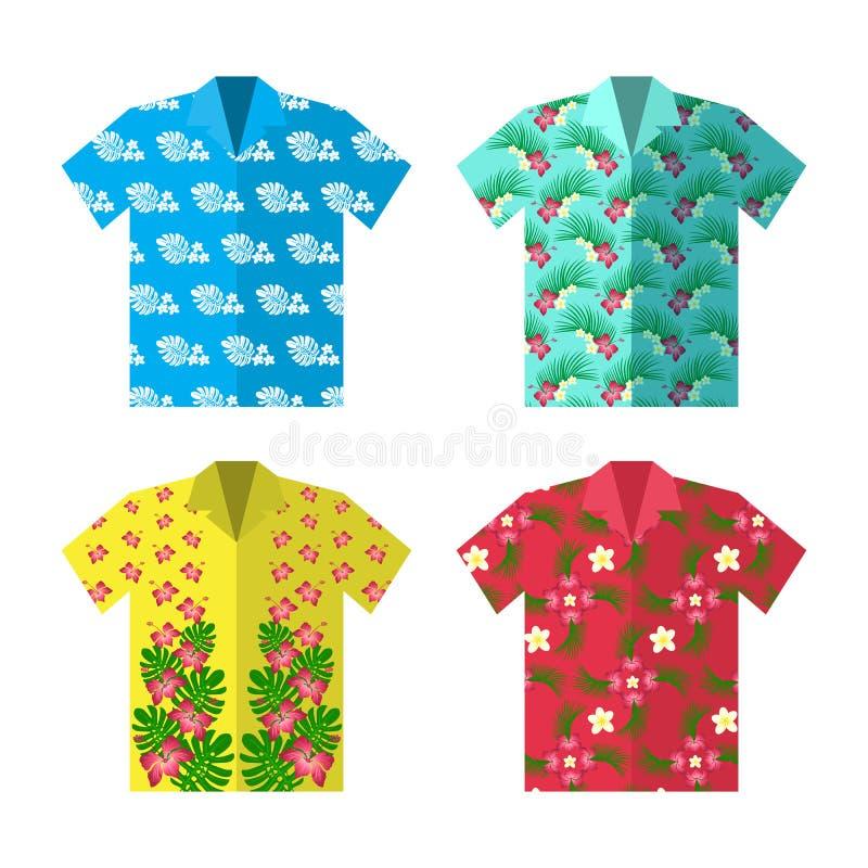 Camisa de Aloha Hawaiian para férias despreocupadas felizes ilustração stock