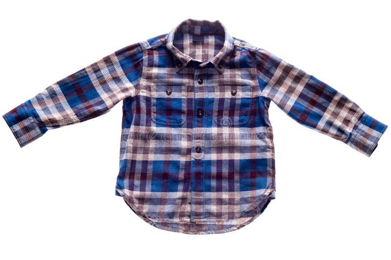Camisa de la franela de la tela escocesa foto de archivo