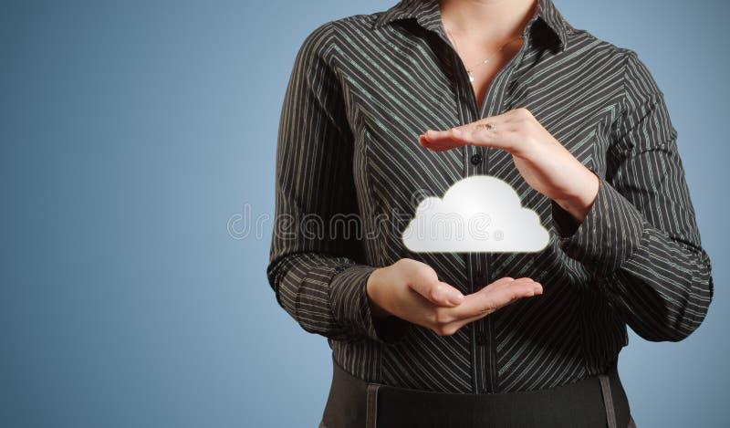 Camisa de la nube de la mujer imagenes de archivo