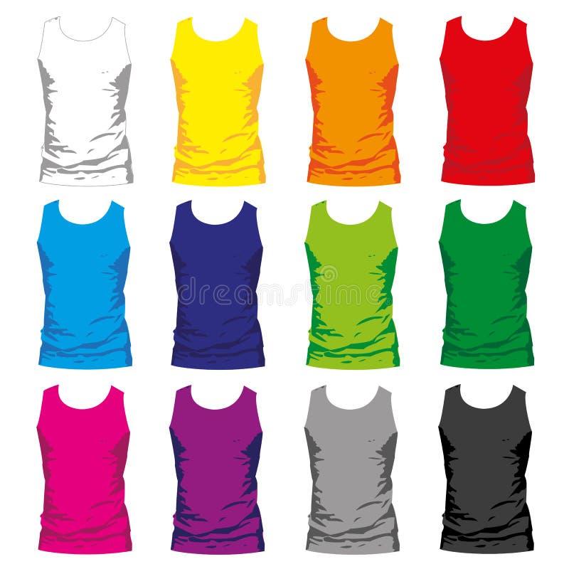 Camisa de los hombres stock de ilustración
