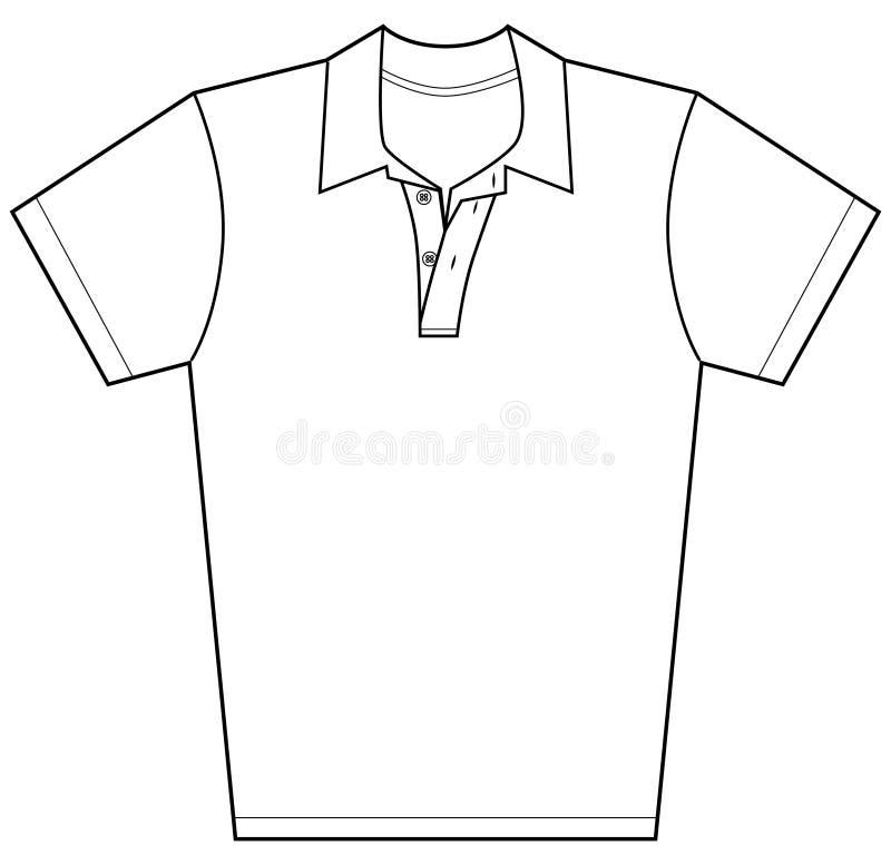 Camisa de polo ilustração stock