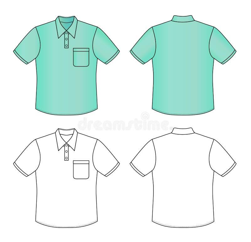 Camisa de polo ilustração royalty free