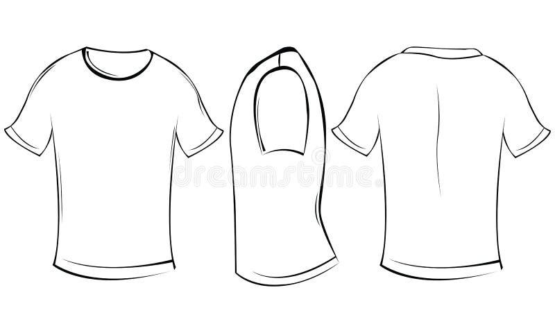 Camisa de T ilustração stock