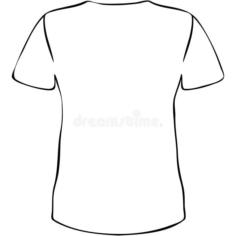 Camisa de T ilustração royalty free