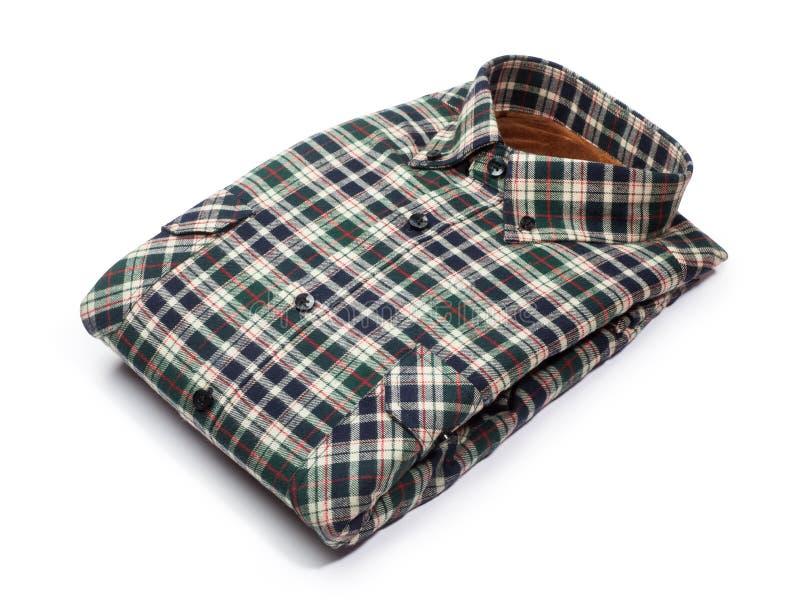 camisa de tela escocesa del algodón imagen de archivo libre de regalías