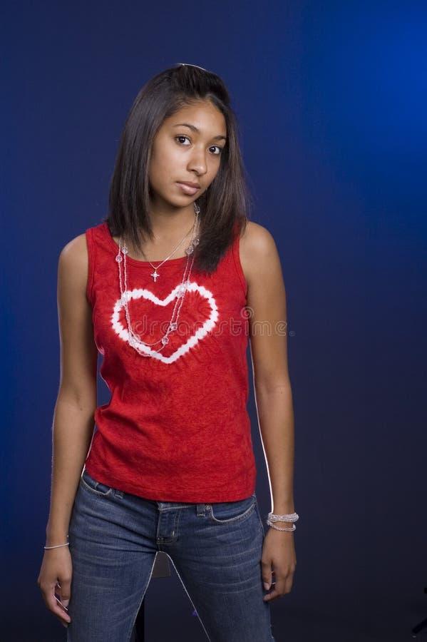 Camisa del amor adolescente foto de archivo