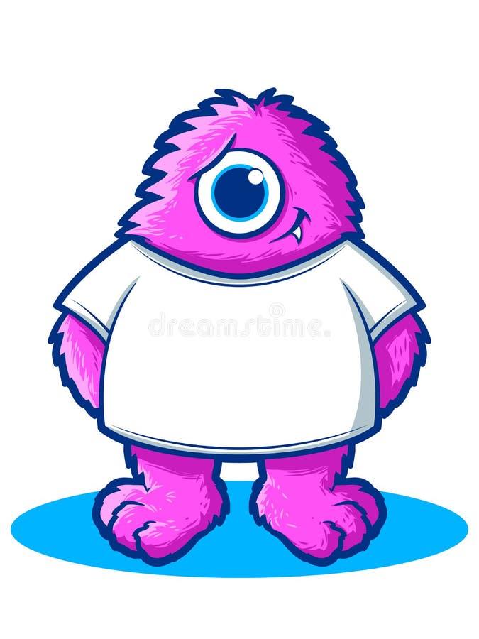 Camisa del monstruo ilustración del vector