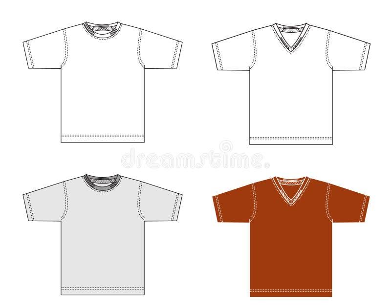 Camisa del vector imagenes de archivo