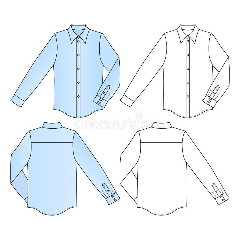 Camisa do ` s do homem ilustração royalty free