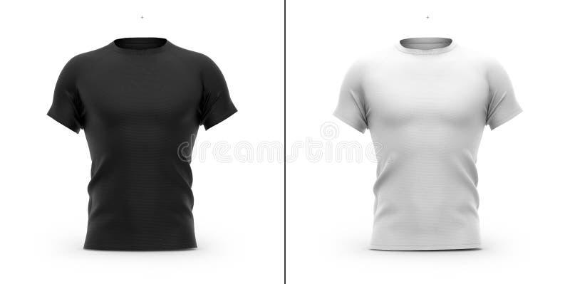 Camisa do ` s t dos homens com pescoço e as luvas de raglan redondos ilustração royalty free