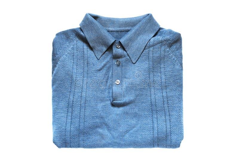Camisa doblada aislada fotos de archivo