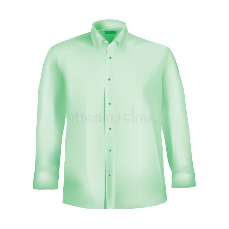 Camisa formal com da tecla o colar para baixo ilustração do vetor