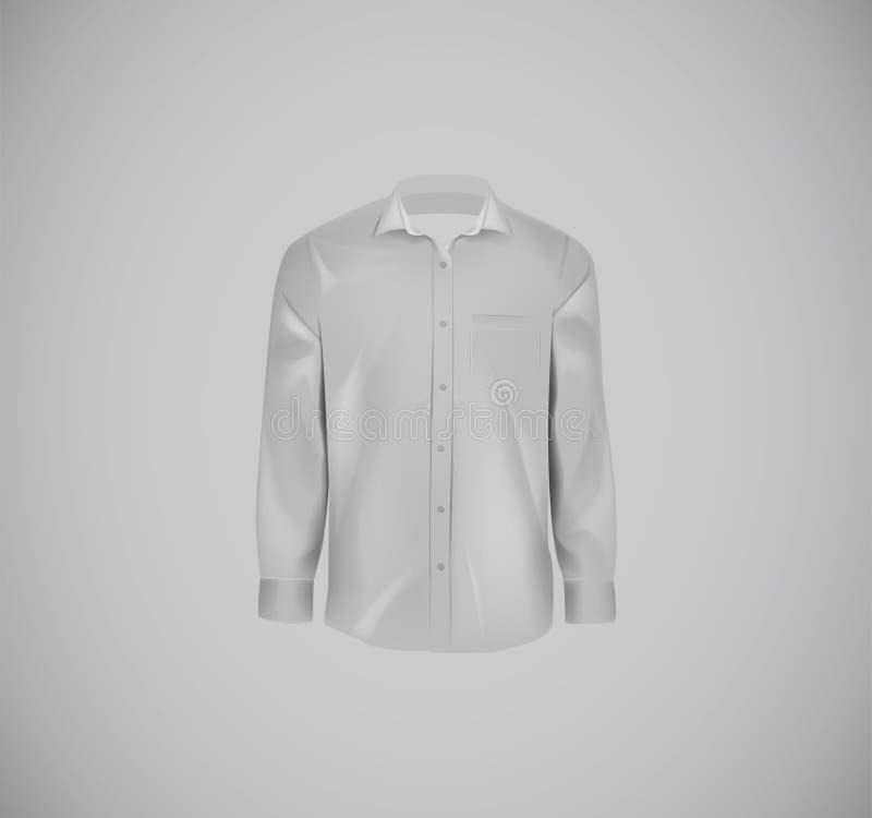 Camisa formal da cor cinzenta Camisa de vestido vazia com botões ilustração stock