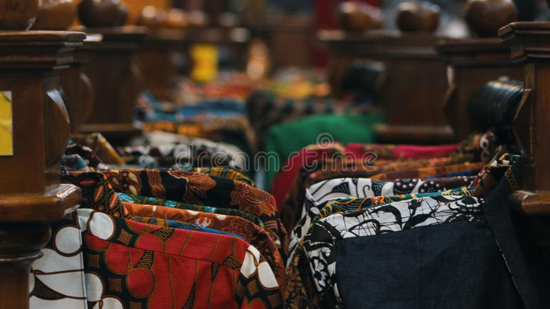 Camisa Indonésia do Batik fotos de stock