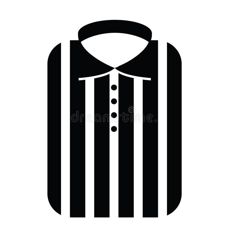 Camisa listrada elegante do homem Ícone do ícone do vetor Etiqueta imprimível ilustração stock