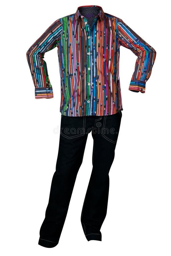 Download Camisa Multicolora Y Vaqueros De Los Hombres Foto de archivo - Imagen de algodón, golf: 41904522